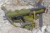 Old Machine Gun On Position poster