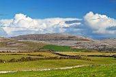 Irish scenery of Burren in Co. Clare