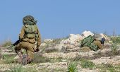 Israeli Soldiers Training, IDF -  Israeli army military combat training,  poster