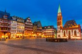 foto of nicholas  - Historic Center of Frankfurt at dusk - JPG