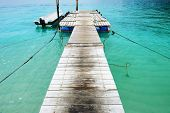 Beautiful beach jetty at Perhentian islands, Malaysia