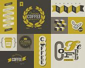 Coffee Labels And Badges. Collection Of Vector Design Elements.