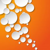 Abstract Whitepaper Kreise auf orange hinterlegt. Vektor-eps10-illustration