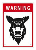 Warning Sign Shepherd Dog