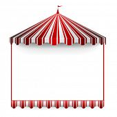 detailed illustration of a carnivals frame with a circus tent on top, eps 10