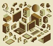 isometric media element set