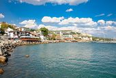 The town of Balchik on the Black sea coast, Bulgaria.