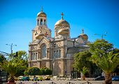 The Cathedral of the Assumption in Varna, Bulgaria. Completed in 1886, and also known as the Dormiti