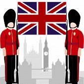 pic of guardsmen  - The national flag of the United Kingdom - JPG
