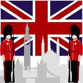 foto of guardsmen  - The national flag of the United Kingdom - JPG
