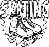 Roller skating sketch