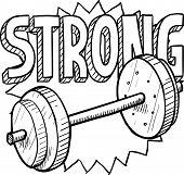 Weightlifting sketch