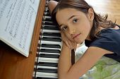 Little Hispanic Girl at the Piano