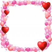 Balloon Frame With Hearts