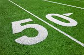 fifty yard line - football field
