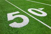pic of ncaa  - fifty yard line - football field natural lighting - JPG