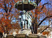 France, Paris: Famous Places, Fountain Near Champs Elysees Avenue