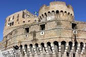Corner Tower Of Castel Sant'angelo, Rome, Italy