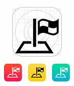 pic of dragster  - Racing flag icon - JPG