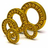 Golden ball bearing