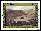 Vintage  Postage Stamp.  Bullfight. Velasquez.