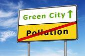Green City Road Sign Concept