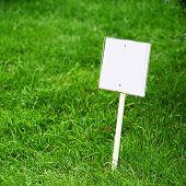 Sing Board On Grass
