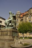 Otto Gvericke Statue, Magdeburg, Germany poster