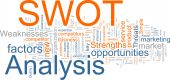 stock photo of swot analysis  - Word cloud concept illustration of SWOT Analysis - JPG
