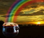 picture of end rainbow  - Pot of gold at the end of the rainbow - JPG