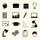 Education Icons. Vector