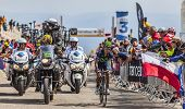 The Cyclist Nairo Alexander Quintana Rojas On Mont Ventoux