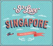 Vintage Greeting Card From Singapore - Singapore.