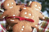 three cute ginger bread