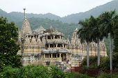 Chaumukha Mandir, the main jain temple at Ranakpur, India.  More than 80 domes and 1444 white marble pillars all different