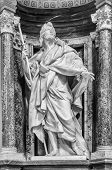 Statue of St. James at the Basilica of St. John Lateran in Rome. Please look at my images of the other saints from this church.