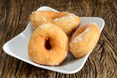 image of graff  - sweet donut fried typical nepolitan food called graffe - JPG