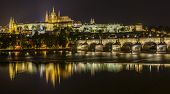 St Vitus Cathedral, Prague Castle And Charles Bridge