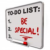 Be Special To Do List Board Unique Different Exceptional