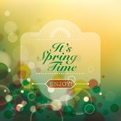 Abstract spring time background. Vector illustration.