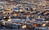 Petropavlovsk-kamchatsky Cityscape. Far East, Russia. Image With An Tilt-shift Effect