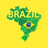 Flat simple Brazil map