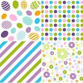 Seamless pattern easter set