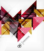 Geometric Triangles Template For Brochure | Booklet