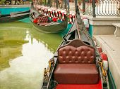 picture of gondola  - Gondolas in the canal at The Venezia Hua Hin shopping place in Venice style Thailand - JPG