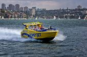 Jet boat in Sydney Harbour