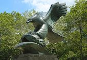 Bronze eagle designed by Albino Manca of the East Coast Memorial