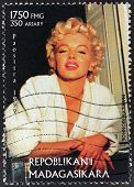 Marilyn Stamp From Madagascar-8