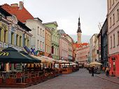 Streets Of The Old Town Tallinn