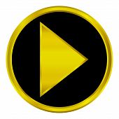 Gold Play Sign Button